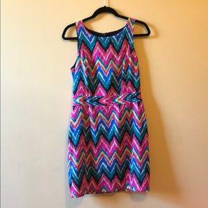 Lilly Pulitzer multicolored chevron dress
